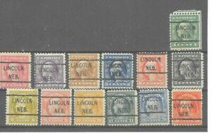 JimbosStamps, U.S.precancels,1917 Wash. Frank. issue, LINCOLN NEB.