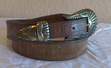 """Smooth Finish Leather Belt with Buckle and Keeper size 28    35 1/4""""  (5)"""