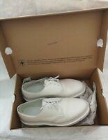 Dr Martens Mens 1461 Mono Leather Shoe 3-hole White Lace Up Shoe Size UK 11...