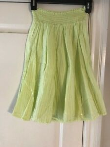 Justice Girls Gypsy Broomstick Boho skirt yellow silver thread sequins sz 10