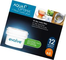Aqua Optima 30 Day Evolve Water Filter - Fit Brita, Maxtra