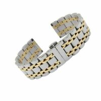 Stainless Steel Watch Band Silver Two Tone Solid Strap 14 16 18 19 20 24 26mm