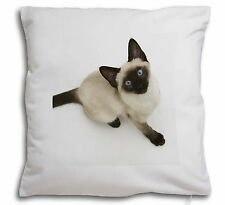 Siamese Cat Soft Velvet Feel Cushion Cover With Inner Pillow, AC-66-CPW