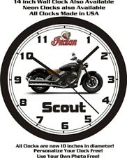 2015 INDIAN SCOUT MOTORCYCLE WALL CLOCK-FREE USA SHIP!