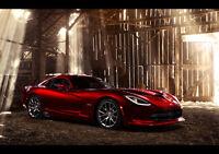 AMAZING DODGE SRT VIPER GTS NEW A3 CANVAS GICLEE ART PRINT POSTER