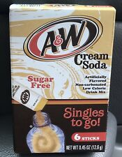 6 Boxes - A & W Cream Soda Singles To Go Water Flavoring Enhancer Singles To Go