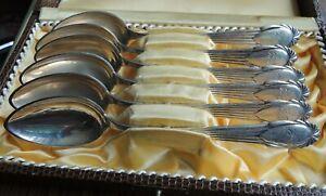 Silber - Besteck , 6 Löffel , Teelöffel , Kaffeelöffel  800 er Ag , ca. 1922 ,