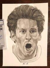 1/1 Original Lionel Messi Watercolor W/ Artist Auto Signature COA