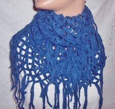 RED-BLUE SCARF COWL INFINITY DIAMOND SOFT LONG NECK WARMER-WOMEN- YOUTH GIRL