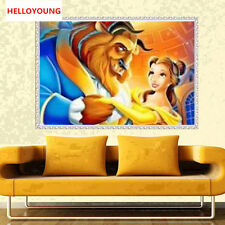 DIY Full Diamond Embroider The Beauty and the Beast Round Diamond Painting Cross