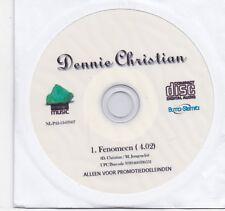 Dennie Christian-Fenomeen promo cd single