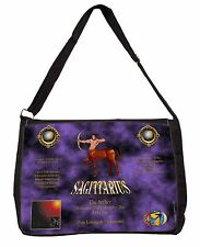 Sagittarius Star Sign of the Zodiac Large Black Laptop Shoulder Bag Sch, ZOD-9SB