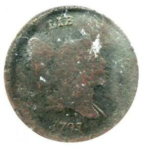 1797 Liberty Cap Flowing Hair Half Cent 1/2C - Certified ICG Fair 2 (FR2)