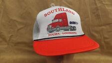 852513b2b4893 Vtg Southland International 9400 Tractor Snapback Trucker Hat Cap NOS Houma  LA