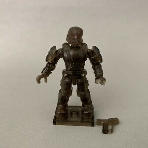 Mega Blok Bloks ODST Figure Clear Brown with Stand and Weapon