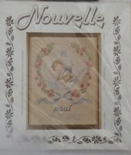 COUNTED CROSS STITCH KIT*BABY BOY BIRTH SAMPLER*