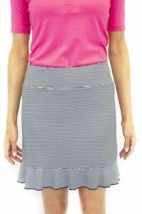 Golftini Womens Blue Martini Pull-On Ruffle Tech Golf Skort - 2020 - Pick Size