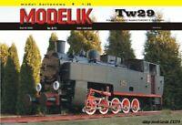 ORIGINAL PAPER-CARD MODEL KIT - Narrow-gauge steam locomotive Tw29