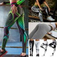 Women's High Waist Yoga Pants Print Leggings Sports Fitness Gym Stretch Trousers