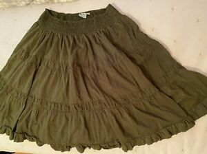Go Fish clothing Co Green full skirt with lining size XL