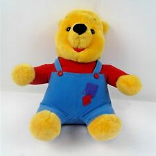 Disney Mattel 1997 Winnie The Pooh Talking Bear - Red Shirt & Blue Overalls