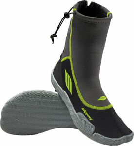 Slippery Wetsuits - AMP Watercraft Water Boots (Black/Green) XS (X-Small)