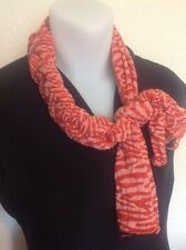 ORANGE NECK SCARF Knot ACCESSORY Braided Slipover Animal Print