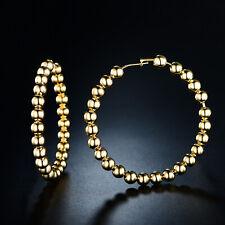 Round Beaded Hoop Earrings Sevil 18k Gold Plated