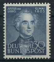 Bund Nr. 166 sauber postfrisch Justus von Liebig BRD 1953 Michel 35,00 € MNH