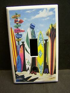 SURF BOARDS SURF SHACK # 3  IMAGE HOME DECOR LIGHT SWITCH COVER PLATE OR OUTLET
