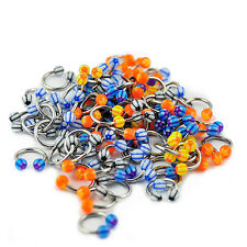 Wholesale Package 100pcs Surgical Steel Horseshoe Eyebrow Circular Barbell