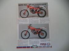 advertising Pubblicità 1983 MOTO FANTIC TRIAL 240 PROFESSIONAL/TRIAL 50