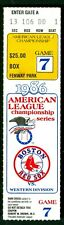 Boston Red Sox vs California Angels 1986 ALCS Game 7 Ticket Stub
