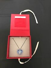 Murano Glass Blue Heart Necklace, Blue, From Red Envelope