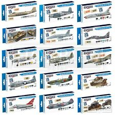 Hataka Blue Brush Optimised Paint Set Acrylic Model Vehicles WW2 Modern Colours
