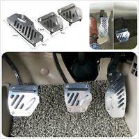 3xAluminium APC Non-Slip 3pc Foot Pedals Pad Cover Manual Transmission  M/T