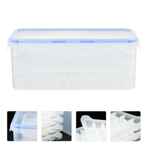 4Pcs DIY Ice Cube Making Trays Mold Mould with Storage Container Box and Lid