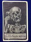 "1910 Antique Postcard Smiling Death Skeleton ""Have a Smile with Me"" Prohibition"
