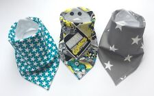 Baby Boys Bandana Dribble Bib (Bibdana) Bundle. Marvel & Star Prints. Ideal Gift
