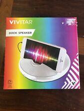 New!! Dock Speaker Ipod Iphone Dock Speaker by Vivitar Battery Operated (White)