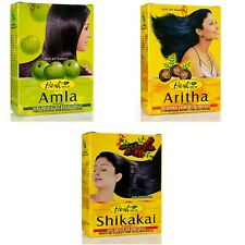 Hesh Herbal Hair Powder Aritha Shikikai Amla Brahmi Powder combo pack