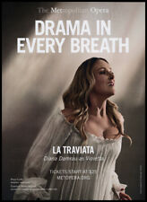 Diana Damrau as Violetta print ad 2018 La Traviata - Metropolitan Opera