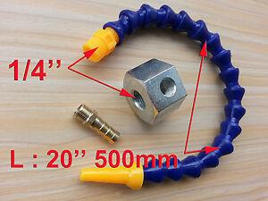 "1/4"" Single Hole Magnetic Base + 20'' 500mm Length Coolant Hose for Milling"