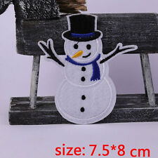 CHRISTMAS EMBROIDERED IRON ON SNOWMAN APPLIQUE 3373-J