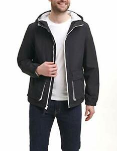 Levi's Men's Nylon Taslan Hooded Windbreaker Jacket Black Size Small