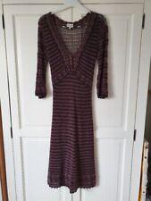 Karen Millen crochet knitted dress chocolate brown size 2 10