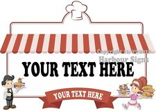 (Choose Your Size) Custom Catering Food Decal Truck Concession Vinyl Sticker