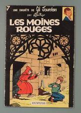 Gil Jourdan 7 Moines Rouges Tillieux Dupuis EO 1964 TBE