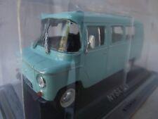 New model - Nysa 521 - IXO IST 1:43 Light Blue - Polish Minibus Van Warszawa