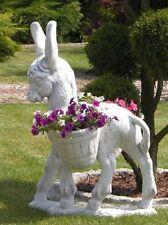 Esel mit Eimern (S103039) Pflanzkorb Pflanzschale Blumentopf Steinguss 86 cm